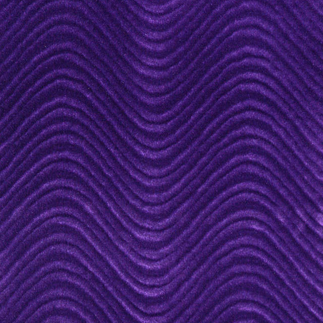 Purple Soft Velvet Wavy Swirl Upholstery Velvet By The Yard