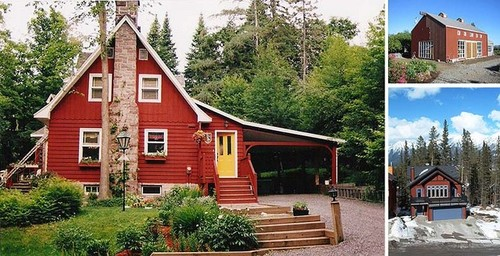 can a plain colonial pull off red siding?