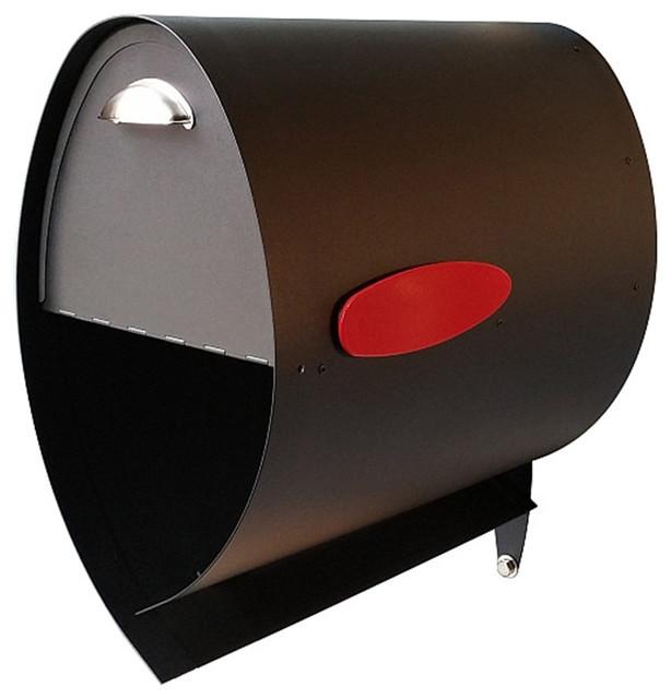 Spira Allessa Ab Spira Post Mounted Mailbox Black