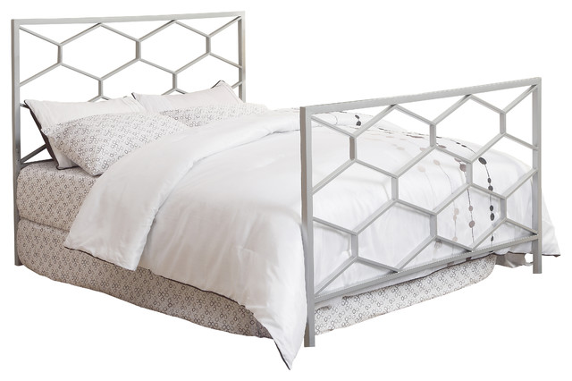 Silver Queen Full Size bo Headboard Footboard ly
