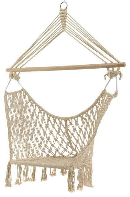 Cream Macrame Butterfly Hanging Chair