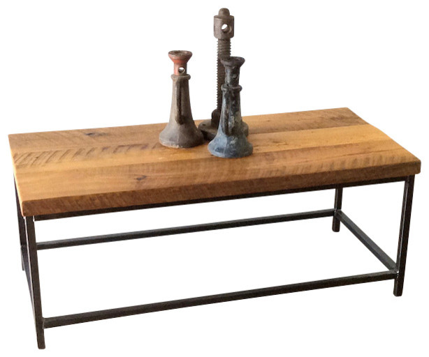 Stoic Reclaimed Wood Coffee Table rustic-coffee-tables