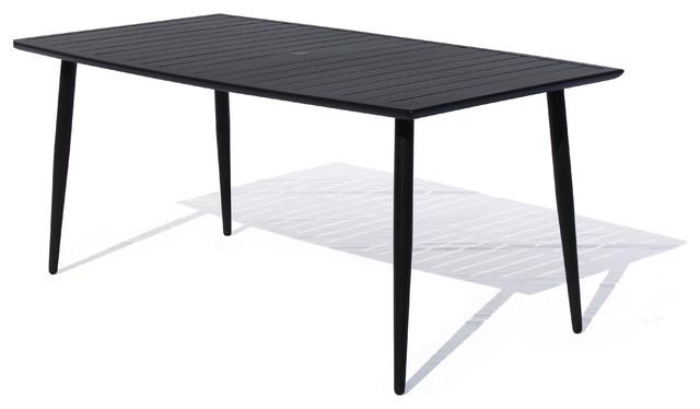 Admirable Osborne Aluminum Outdoor Dining Table Bralicious Painted Fabric Chair Ideas Braliciousco