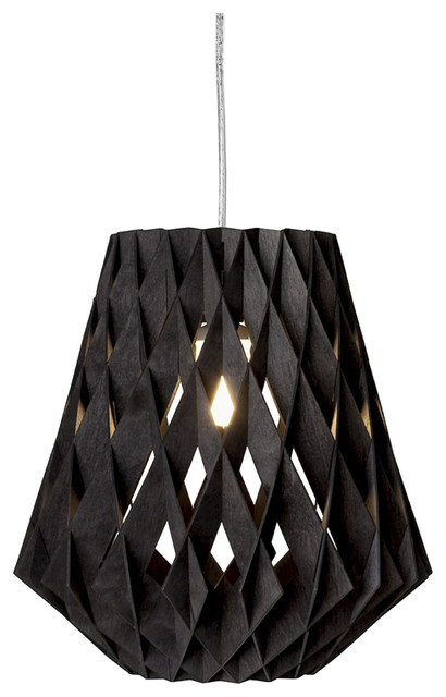 Pilke 28 Pendant Lamp, Black