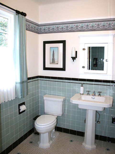 Retro bathroom for Bathroom ideas 1940