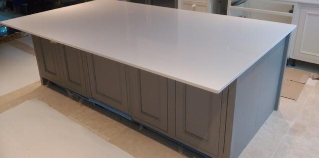 Kitchen Worktops And Island In Silestone White Storm