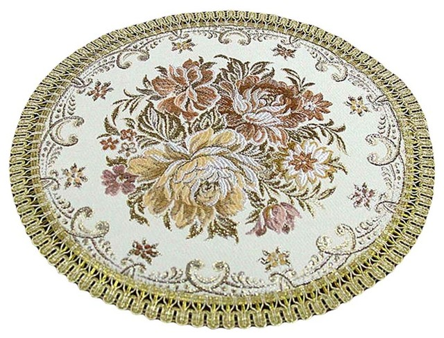 Set Of 2 Insulation Placemats Dinner Table Embroidery