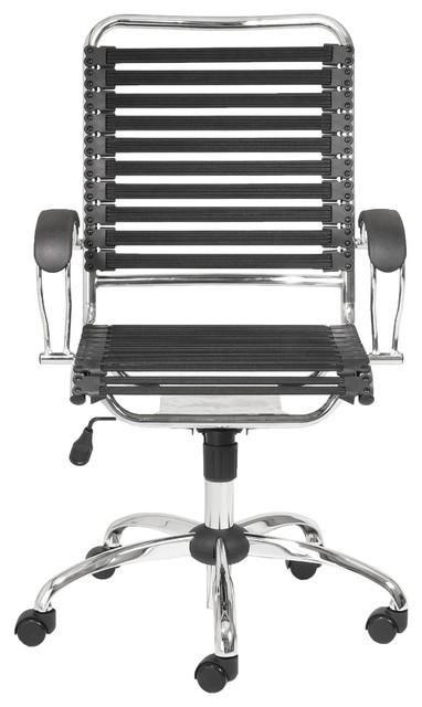 Modern Chrome Black Office Chair