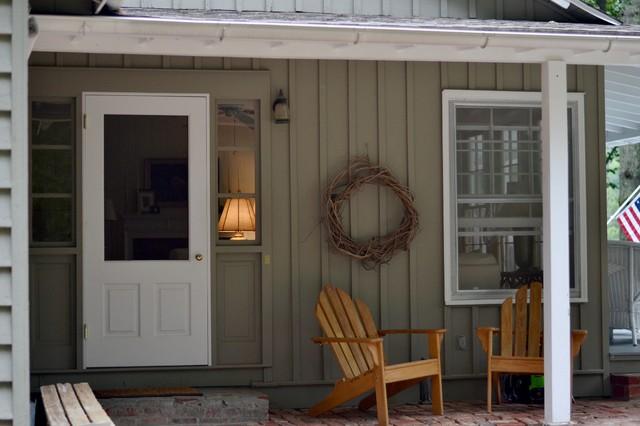 Refreshed Wash Room & Custom Doors farmhouse