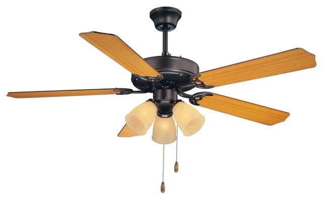 Savoy House 52-Eup-5rv-13 First Value Bronze Cream Frosted 52 Ceiling Fan.