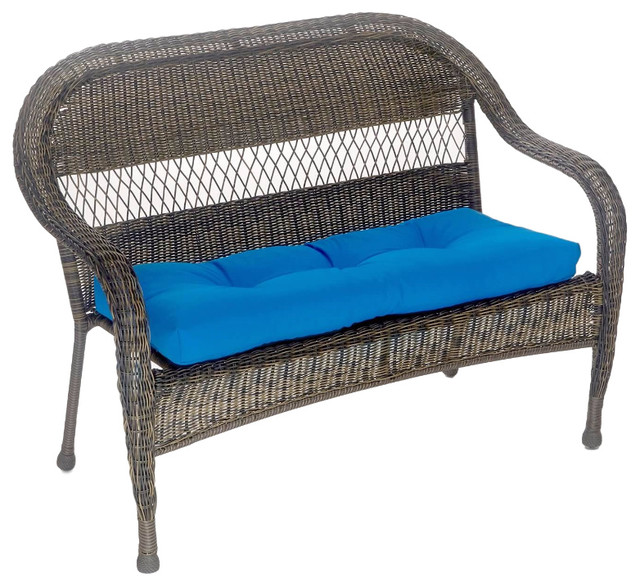 Fabulous Patio Outdoor Indoor Bench Cushion 43X19X3 Marine Blue Cjindustries Chair Design For Home Cjindustriesco
