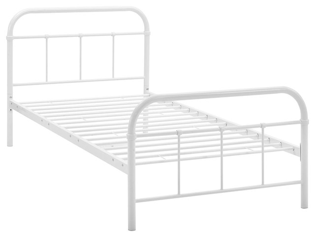 Maisie Twin Stainless Steel Bed Frame.