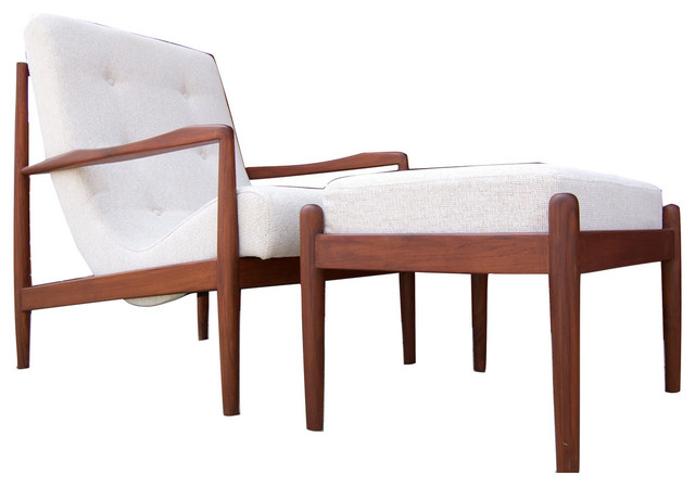 Bowery And Grand BG1113 Chair And Ottoman, Zen