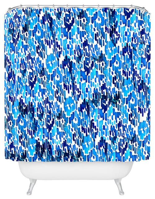 Cayenablanca Blue IkatShower Curtain