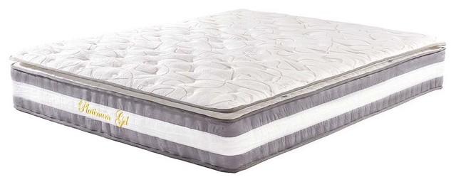 "13"" Plush Pillow Top Hybrid Memory Foam and Spring Mattress, Queen"