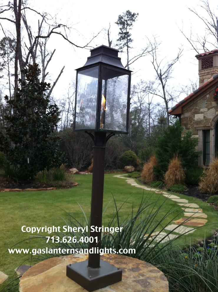 Sheryl's Flush Mount Gas Lantern Mounted on Pole