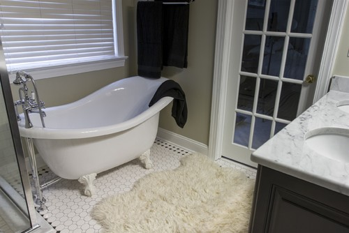 Bathroom Remodeling Cary Nc Design throwback vintage retro master bathroom remodel cary nc