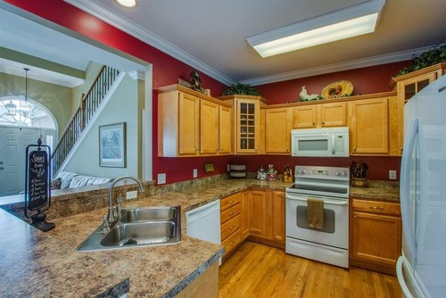 White Ice or Stainless Appliances in Small White Kitchen