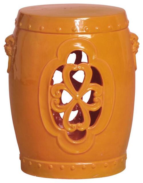 Orange Clover Garden Stool Asian Accent And Garden