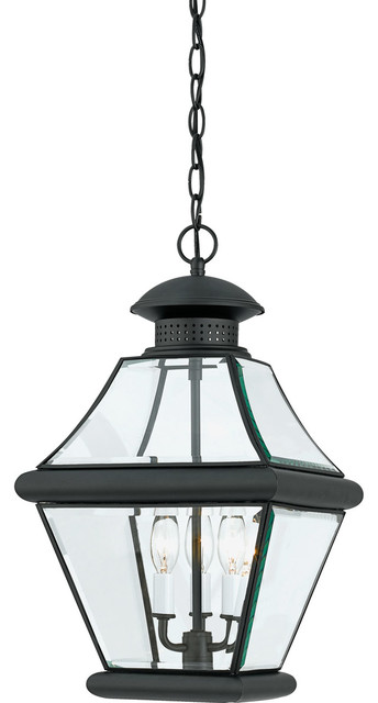 Quoizel Rutledge Outdoor Lantern, Mystic Black.