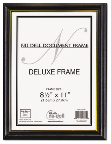 nudell deluxe wood document frame plastic face 8 12 x 11 - Document Frames