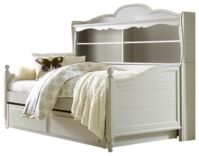 Westport Bookcase Daybed With Trundle Storage Drawer Morning Mist