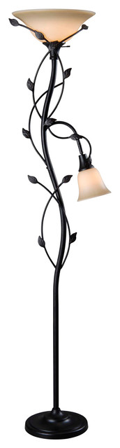 Ashlen 2-Light Floor Lamps, Oil Rubbed Bronze.