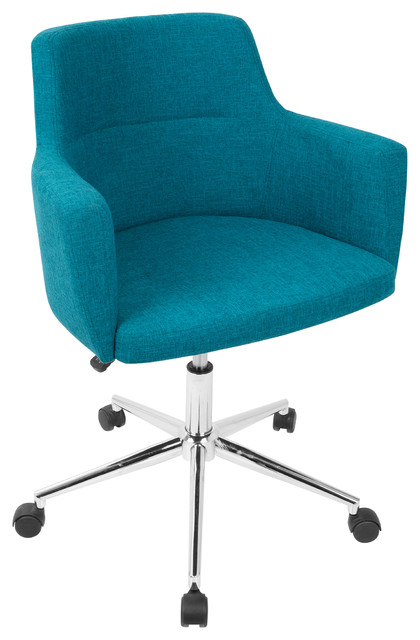 LumiSource Andrew Adjustable Office Chair, Citrus Green, Teal