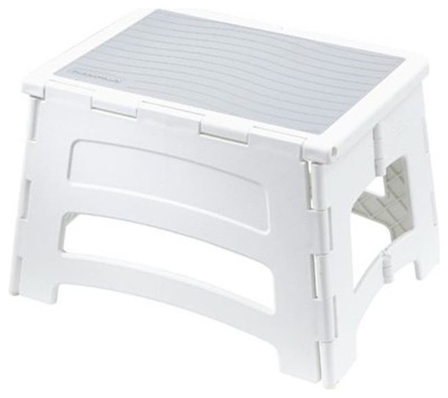 Tricam Industries RM-PL1W 1 Step Plastic Folding Stool