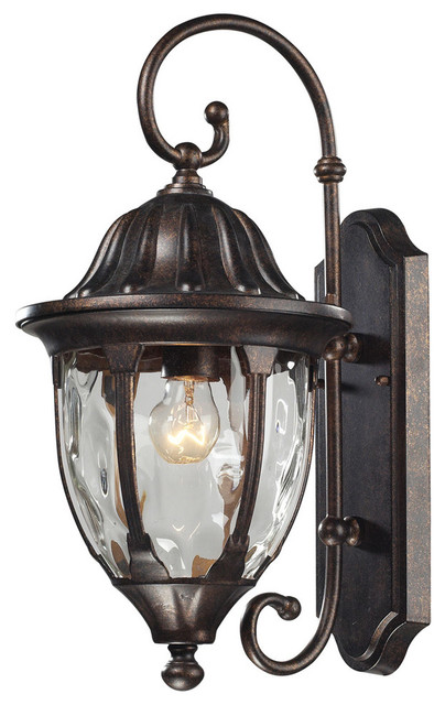 Glendale Traditional Outdoor Wall Light, Regal Bronze - Victorian - Outdoor Wall Lights And ...