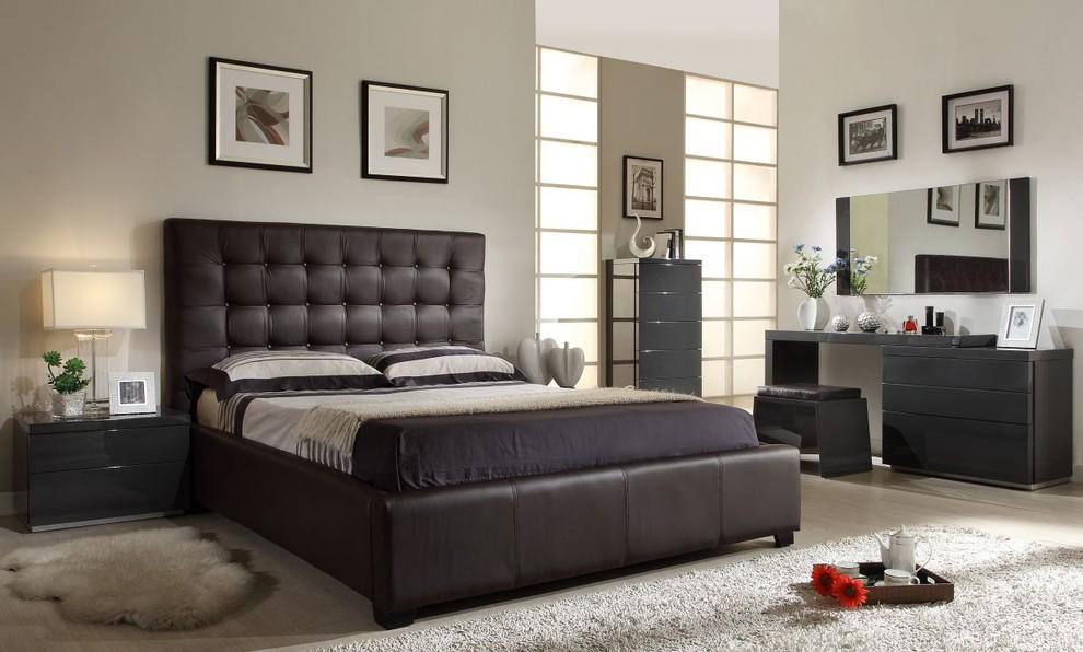 Athens Modern Brown Bedroom Set 1795