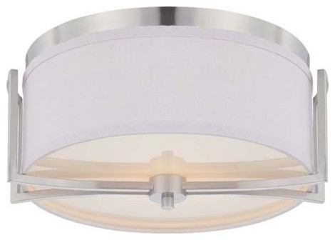 Nuvo Lighting 60/4761 Gemini 2 Light Flush Dome Ceiling Fixture.