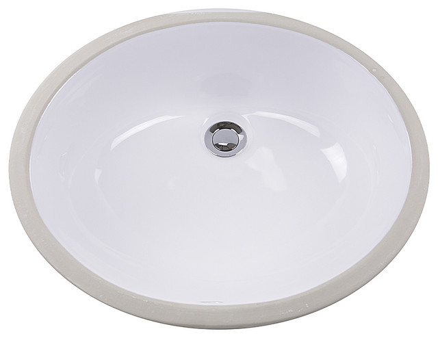 Nantucket Sinks Gb 15x12 W Glazed Bottom Undermount Ceramic Sink In White