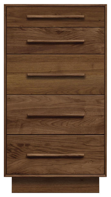 Copeland Furniture Moduluxe 5 Drawers Dresser, Autumn Cherry.