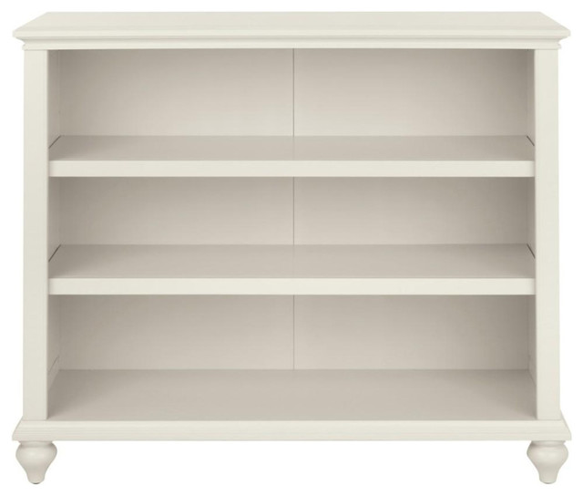 3 Shelf Polar White Open Bookcase Traditional Bookcases By Luxe Home Decorators