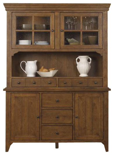 Liberty Hearthstone Buffet With Hutch, Rustic Oak