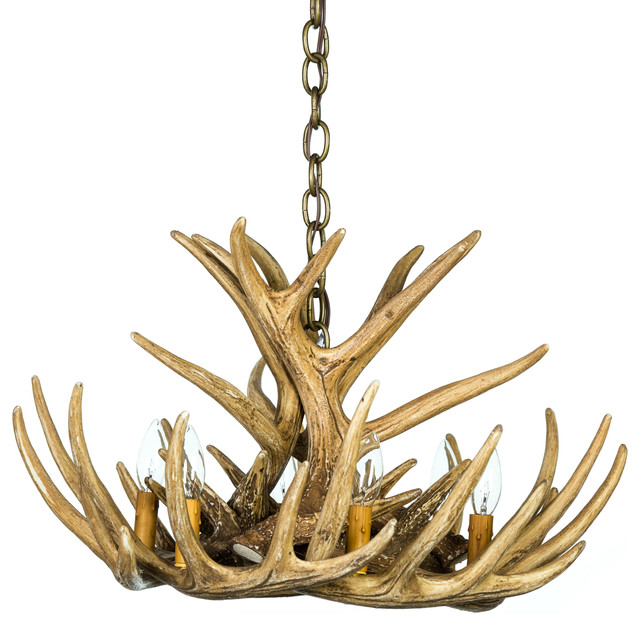 Whitetail Deer 9 Antler Cascade Chandelier