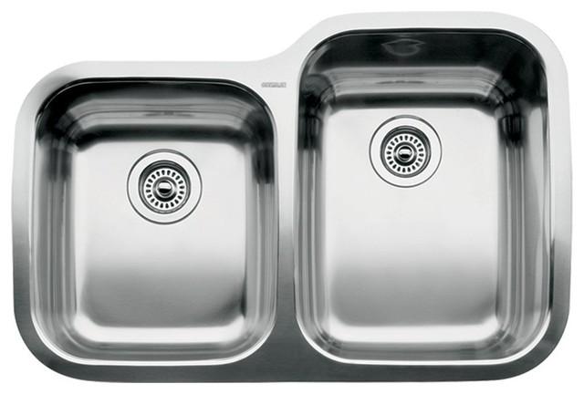 Blanco Supreme Undermount Stainless Steel 2-Bowl Kitchen Sink.