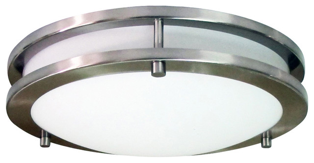 """Homeselects 12"""" Saturn 15-Watt Integrated Led Dimmable Flush Mount."""