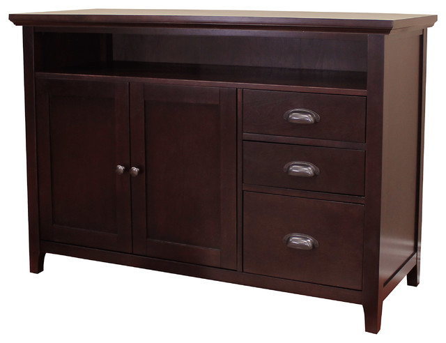 faux kitchen cabinets lindendale 33 quot h sofa table buffet espresso transitional 3721