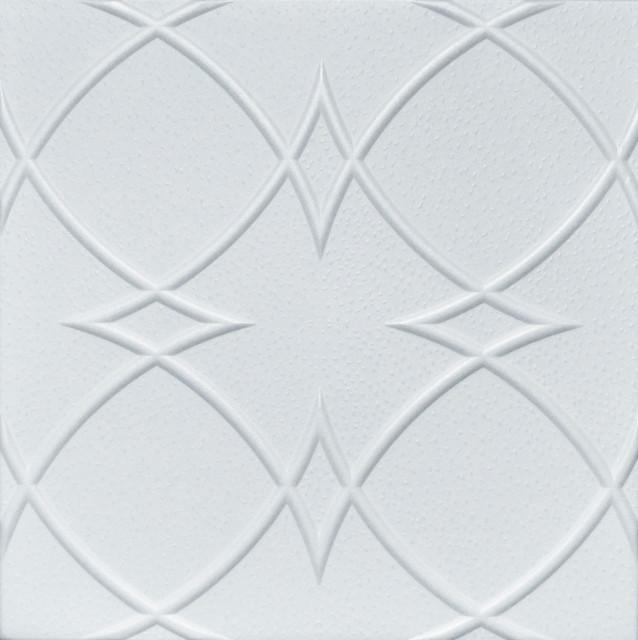 20x20 styrofoam glue up ceiling tiles r23w plain white - Glue Up Ceiling Tiles