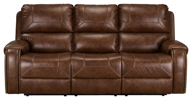 Astonishing Winslow Manual Motion Reclining Sofa With Usb Charger Brown Ibusinesslaw Wood Chair Design Ideas Ibusinesslaworg