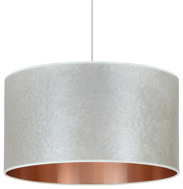 Pearl Grey and Copper Pendant Lampshade, Without Accessories, 40 cm