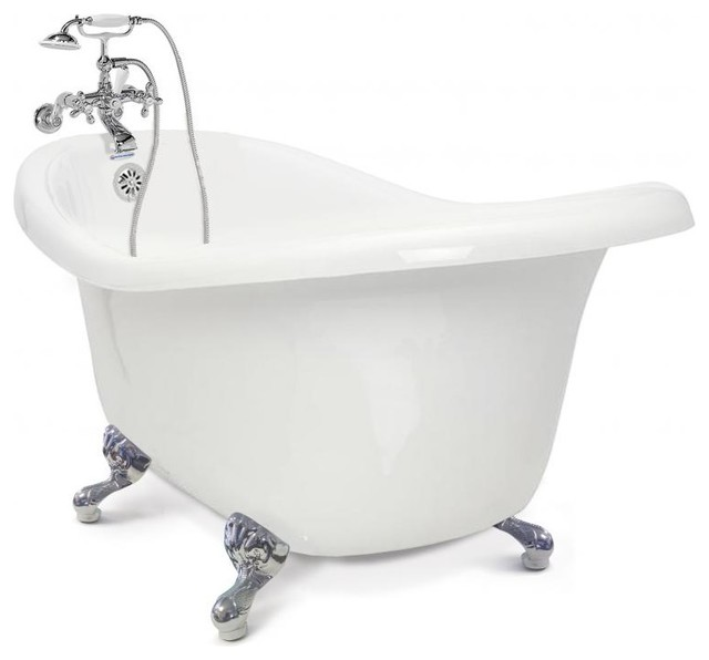 Chelsea Collection Slipper Tub, Chrome Feet.