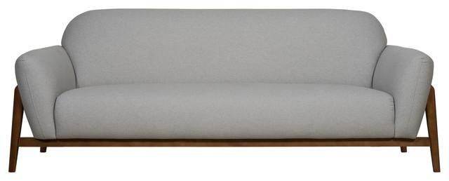 Milo Contemporary Sofa, Light Grey, 3-Seater