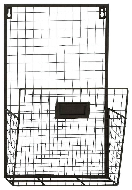 Multipurpose Metal Wall Unit Wire Mesh Basket Perfect Holding Files
