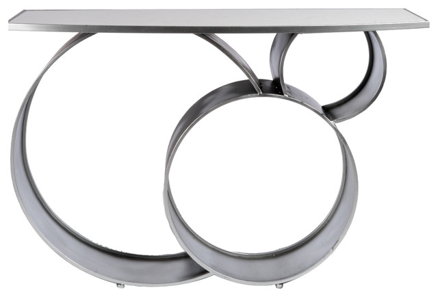 Blake Marble Top Console Table Silver