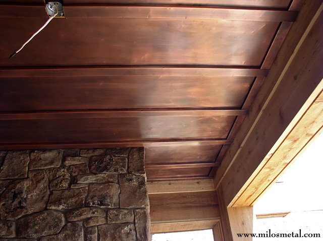 Copper Ceiling Panels Traditional Entry By Milos