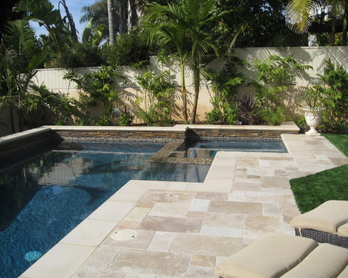 Pool Deck Travertine Or Brick Pavers