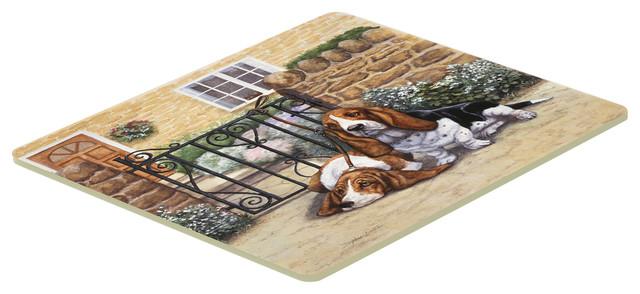 Basset Hound At The Gate Kitchen Bath Mat 20 X30 Contemporary Kitchen Mats By The Store